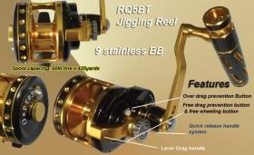 Osprey jigging reels with dual drag system. Jigging reels has max drag of 25kg