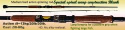 Osprey special spiral wrap blank spinning rods. Spinning rods in 7 and 8ft, Available online at our FB shop front