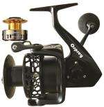 Osprey spinning reels for fresh and saltwater max drag 20kg. Spinning reels with aluminium alloy body and stainless pinion. Baitrunner spinning reels.