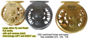 Osprey fly casting reels. Fly reels with anti reverse bearing